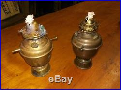 Vintage English Ship Brass Gimble Oil Lamp Lantern Very Rare working