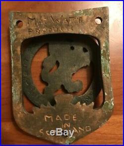 Vintage Lion Door Knocker Very RARE (Mac Watt Products Made In Scotland)