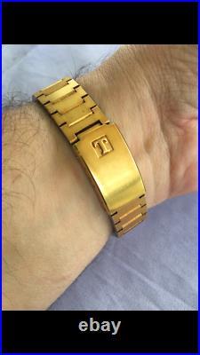 Vintage Tissot Mens LCD Brass Watch Swiss Very Rare