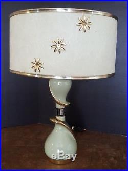 Vintage VERY RARE GE Mid Century Modern Retro 50's Table Lamp, original shade