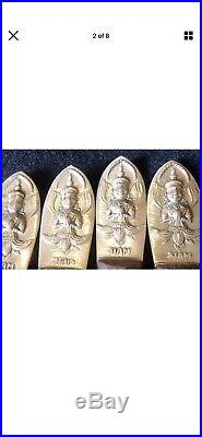 Vintage very Rare 1950's Rosewood & Brass Siam Flatware Set 151 pieces Buddha