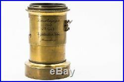 Voigtlander & Sohn Braunschweig portrait Euryscop II n4 Very Rare Brass