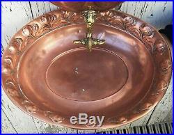 WMF wonderful very rare Art Nouveau water fountain copper brass jugendstil